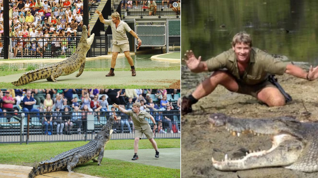 Newsnumber A New Era Of Social Journalism Steve Irwin S Son Recreates Croc Pic 15 Years Later